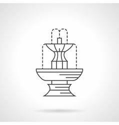 Park fountain flat line icon vector
