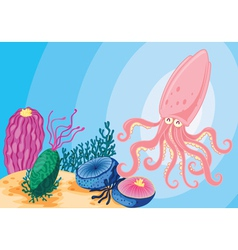 sea animals vector image vector image