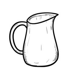 sketch of doodle jug vector image vector image
