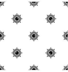 Sun pattern seamless black vector