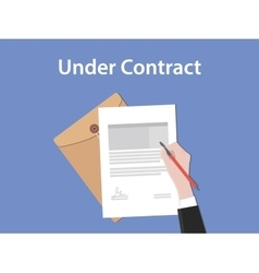 under contract concept with business vector image vector image