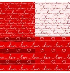 Various love pattern vector