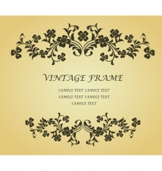 vintage frame with clover vector image vector image