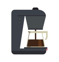 Isolated coffee machine design vector