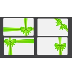 Gift card with bow vector