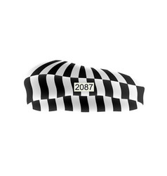Prison cap in black and white design vector