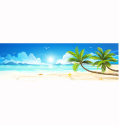 summer holidays on tropical beach vector image