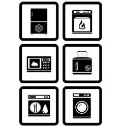 Set of household appliances for home vector