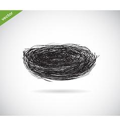 Birds nest vector image