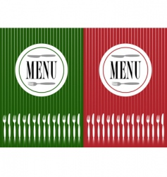 Menu cards vector