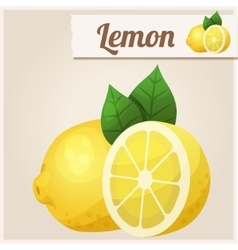 Lemon detailed icon vector