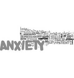 Anxiety symptoms text word cloud concept vector