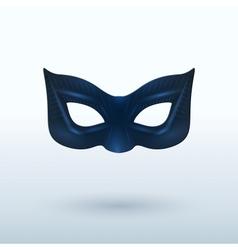 Black Leather Mask for Superhero vector image
