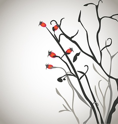 Brier bush with berries vector