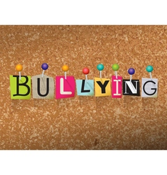 Bullying concept vector