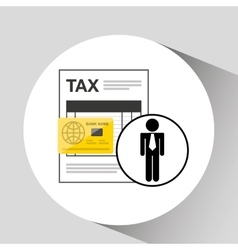 Business man taxes credit card icon design vector