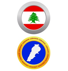 button as a symbol LEBANON vector image vector image