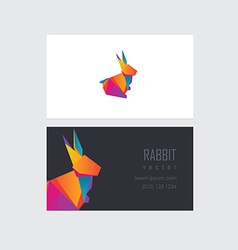 Company business card template vector