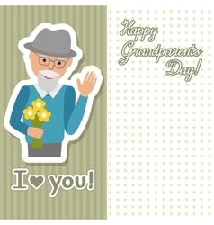 drawing of icon elderly man with vector image