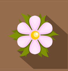 Flower icon flat style vector