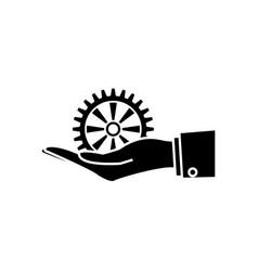 gear wheel icon vector image vector image