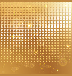 gold halftone background template vector image