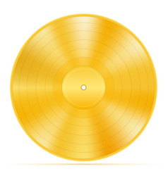 gold vinyl disk stock vector image