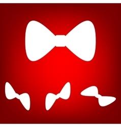 green Bow Tie icon set vector image