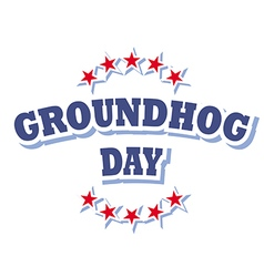Groundhog Day logo symbol isolated vector image vector image