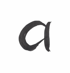 letter a written with black ink vector image vector image