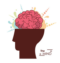 Mind human head brain creativity memory vector