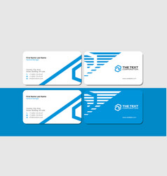modern smart blue business card template vector image vector image