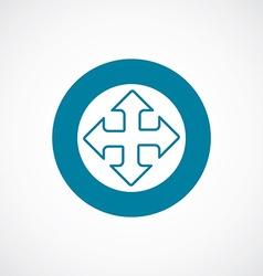 Move icon bold blue circle border vector