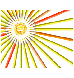 Painted sun smile vector