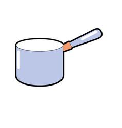 pot kitchen utensil object to cuisine vector image