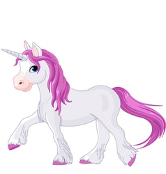 Quietly going unicorn vector image vector image