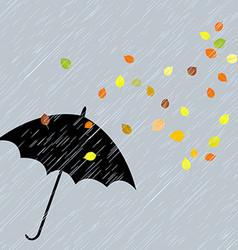Rainy autumn background vector