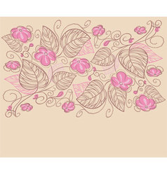 ribbon florals vector image vector image