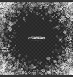 Snow 3d frost effect vector