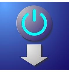 Start button violet vector image