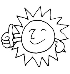 sun smile vector image vector image