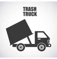 Trash truck design vector