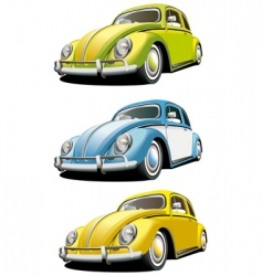Vintage car set vector