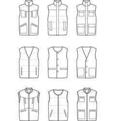 Work winter vest vector