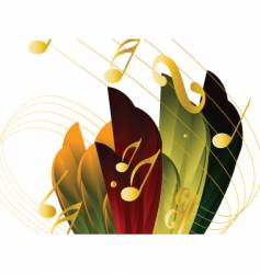 musical nature vector image