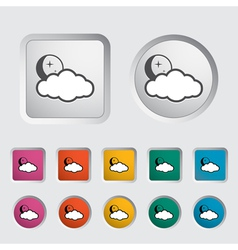 cloud night vector image