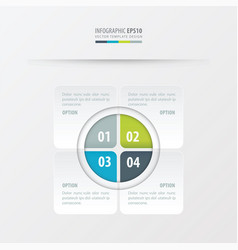 rectangle presentation design green blue gray vector image