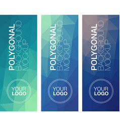 vertical polygonal banners vector image