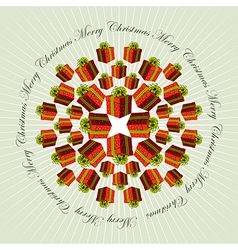 Christmas mandala background vector image
