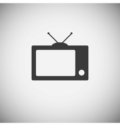 Tv wood application icons vector